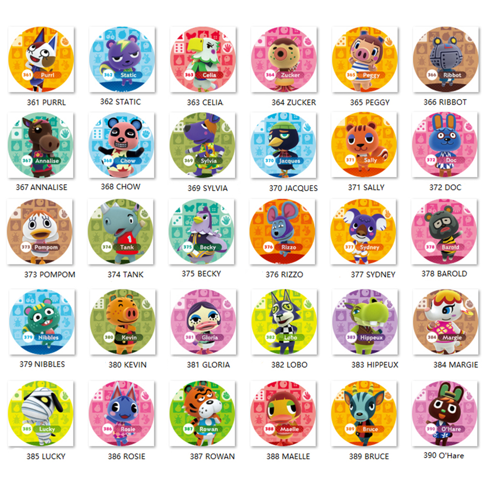 Animal Crossing Card (361 To 390) Amiibo Ntag215 Card Work For NS Games Series 1
