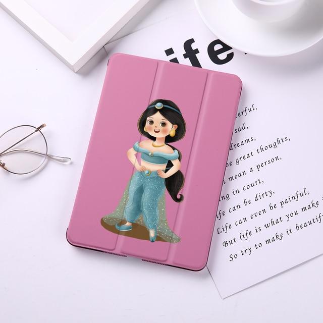 Case For iPad Mini 5 4 3 2 1 Tablet Cover Auto Sleep Wake Cute Princess Elsa Mermaid For iPad Air 3 2 PU Protect Skin iPad Case