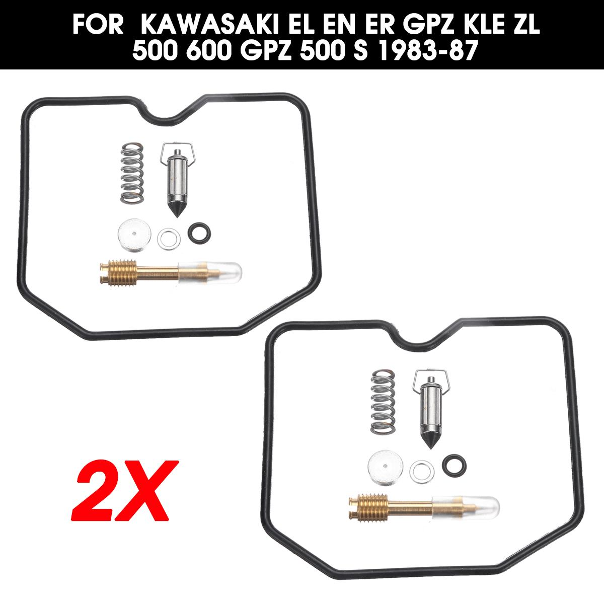 Autoleader 2x moto carburateur reconstruire Kits réparation changement outils pour Kawasaki EL EN ER GPZ KLE ZL 500 600 GPZ 500 S 1983-87