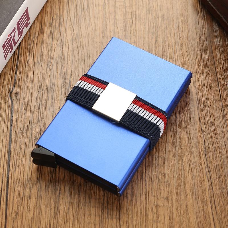 10 Card Double Case Credit Card Holder Men Anti Rfid Blocking Metal Smart Security Wallet Visit Cardholder Protection Nederlands