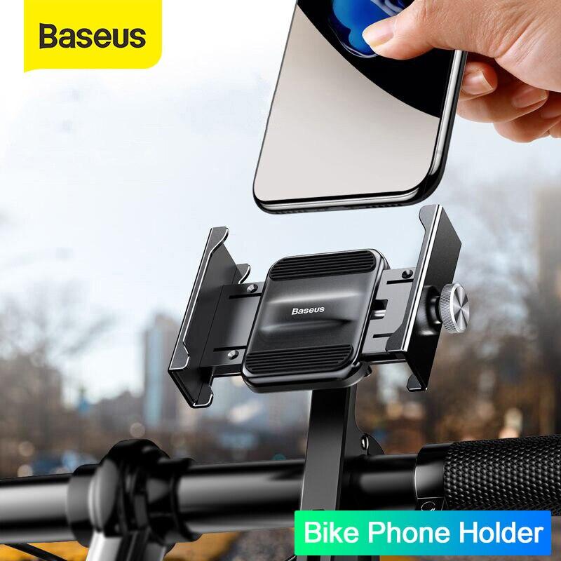 Baseus Bike Phone Holder Universal Motorcycle Bicycle Mobile Phone Stand Handlebar Rear View Mirror Clip Phone Holder Bracket