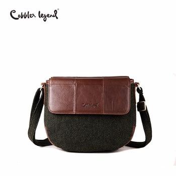 Cobbler Legend Women Genuine Leather Shoulder Bag Vintage Small Bags for Crossbody Brand Designer Handbags For Lady