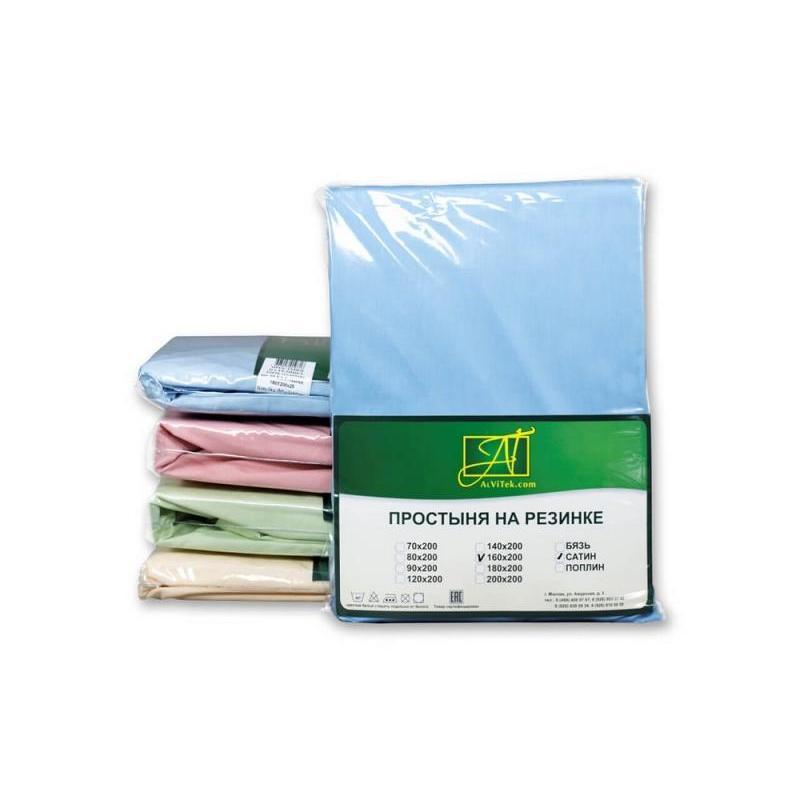 Фото - Bed Sheet АльВиТек, 214*220 cm, Blue bed sheet альвитек 150 214 cm white