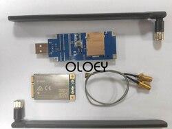 1 Uds. EP06-E módulo MINIPCIE CAT6 LTE, 2 uds. cable adaptador de antena de 15cm, 2 uds. Antena LTE, 1 Uds. Placa de desarrollo USB portátil