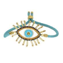ZHONGVI-pulsera ajustable para Mujer, joyería MIYUKI hecha a mano, Ojo malvado