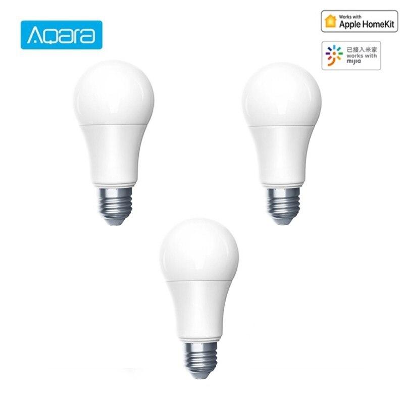 Aqara led inteligente lâmpada 9 w e27 led luz zigbee conexão sem fio inteligente de controle remoto com kit casa e mi casa app