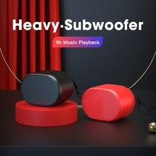 Mini portátil alto-falante bluetooth som estéreo mãos livres coluna subwoofer pequena caixa de som alto-falante leitor de música