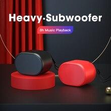 Mini alto falantes bluetooth portáteis som estéreo mãos livres coluna subwoofer pequena caixa de som alto falantes alto falante reprodutor de música