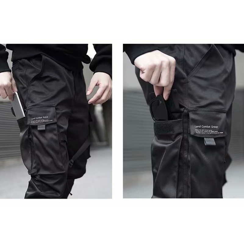 Cargo pants Men Casual Joggers Pants Solid  Male Multi-pocket Trousers New Mens Sportswear Hip Hop Harem Pencil Pants