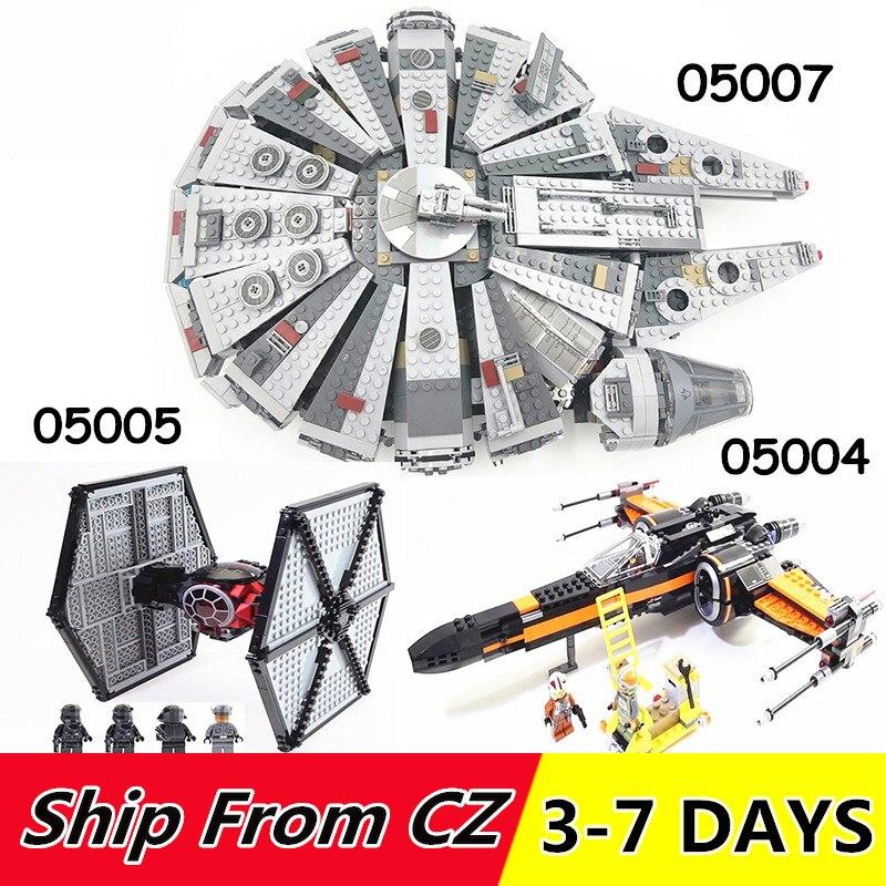 05004 05005 05007 stern Plan Wars Millennium Modell Falcon Bausteine Kompatibel mit 75102 75101 75105 spielzeug Geschenk