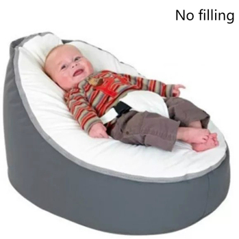 цена на 2020 Soft Baby Chair Infant Bean Bag Bed cover without filler Pouf for Feeding Baby Snuggle Bed with Belt for Safety Protection