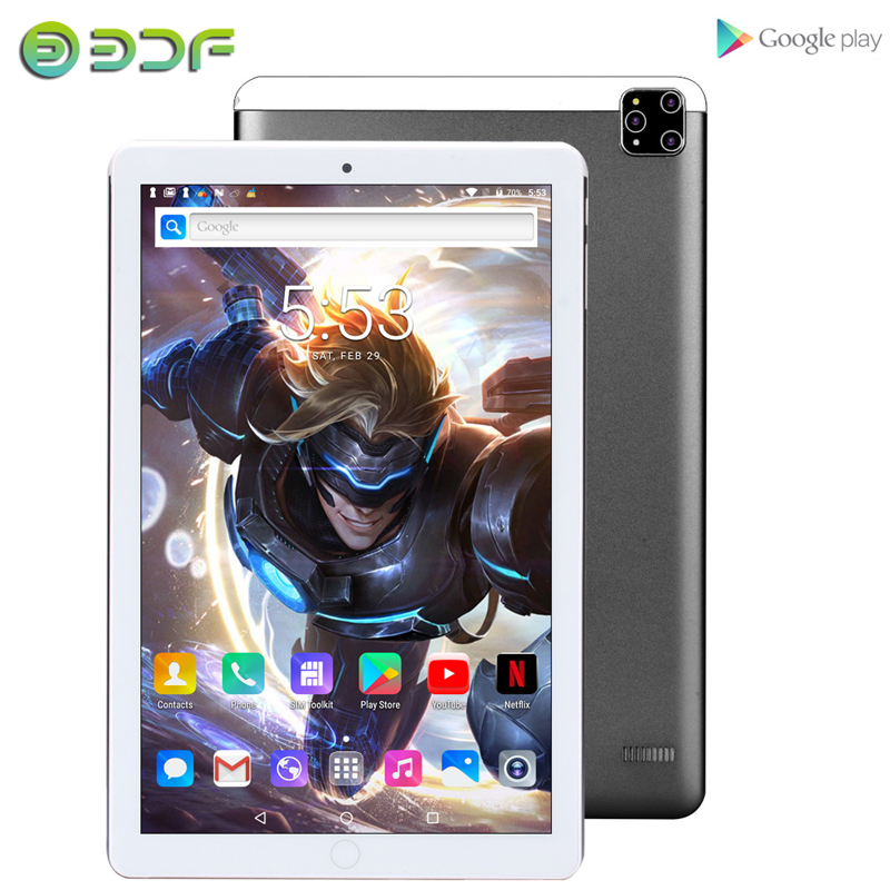 2020 New Models 10.1 Inch Tablets Android 7.0 Quad Core 3G Phone Call 1GB+32GB Support GPS Wi-Fi Bluetooth Tablet PC+Keyboard