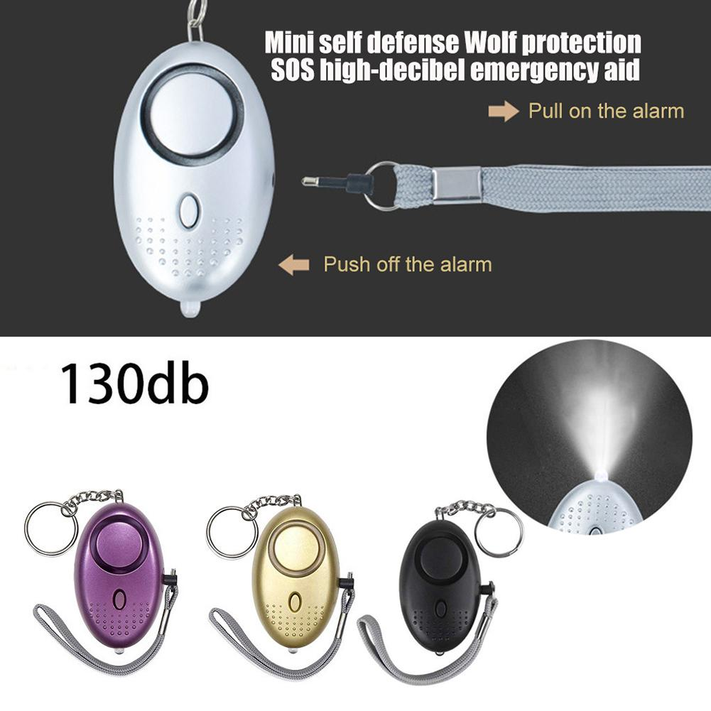 Protable Mini Anti-wolf Outdoor Hand Pull Alarm Women's Self-defense Device Personsal Outdoor Emergency Keychain Alarm