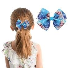 Новые детские аксессуары для волос, аксессуары для волос с принтом, аксессуары для волос для маленьких девочек, заколка с бантом, подарок для девочек