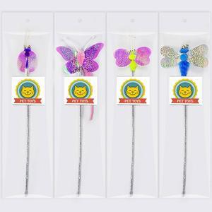 Мягкая красочная игрушка в виде червя бабочки для кошки, котенка, забавная интерактивная игрушка, игрушки для кошек, товары для кошек