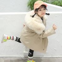 Children's winter fashion coat Whole skin real rabbit fur 2019 winter new style baby kids child jacket girl coat