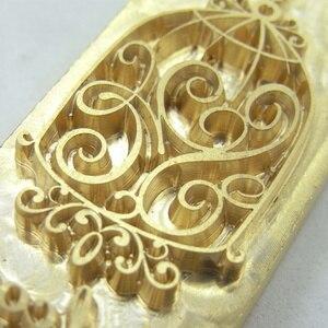 Image 2 - 真鍮金型木材革スタンプカスタムロゴデザインブランディングパーソナルケーキパン金型暖房エンボスパーソナライズされたクリシェ