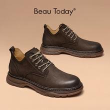 Ботильоны; Мужская обувь из натуральной коровьей кожи; Модная