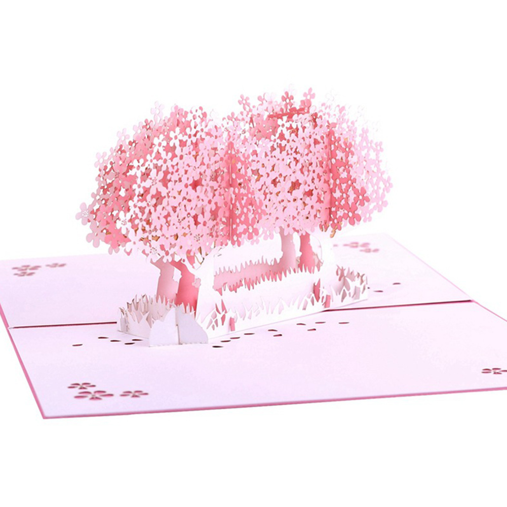 Greeting Card Hollowed Out Sakura