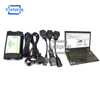 TruckProg Ptt 2.7 with T420 Laptop for volvo FM FH series Truck Excavator Diagnostic Scanner Vocom 88890300 Interface