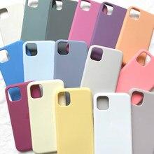 Original oficial líquido caso com logotipo para iphone se 2020 11 12 pro max silicone com caixa para iphone x 6s 7 8 plus xr xs max