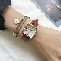 Minimalistischen Platz Frauen Quarz Uhren Qualitäten Damen Leder Armbanduhren Ulzzang Mode Marke Einfache Weibliche Uhr Geschenke