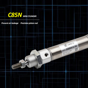 C85 CD85N Air Cylinder Standard Double Acting Single Rod smc type bore 8 10 12 16 20 25mm Stroke 10-200mm mhc2 20s m5bspt bore 20mm sns pnumatic finger air claw cylinder smc type normally open single acting angular style air gripper