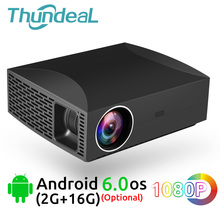 ThundeaL Full HD Proiettore F30 Native 1920x1080 5500Lumen 3D Video LED LCD Opzionale F30 UP WiFi Android bluetooth F30Up Beamer