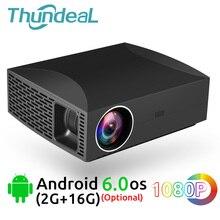 ThundeaL projektor full hd F30 język 1920x1080 5500 lumenów 3D wideo led LCD opcjonalnie F30 się WiFi android bluetooth F30Up Beamer