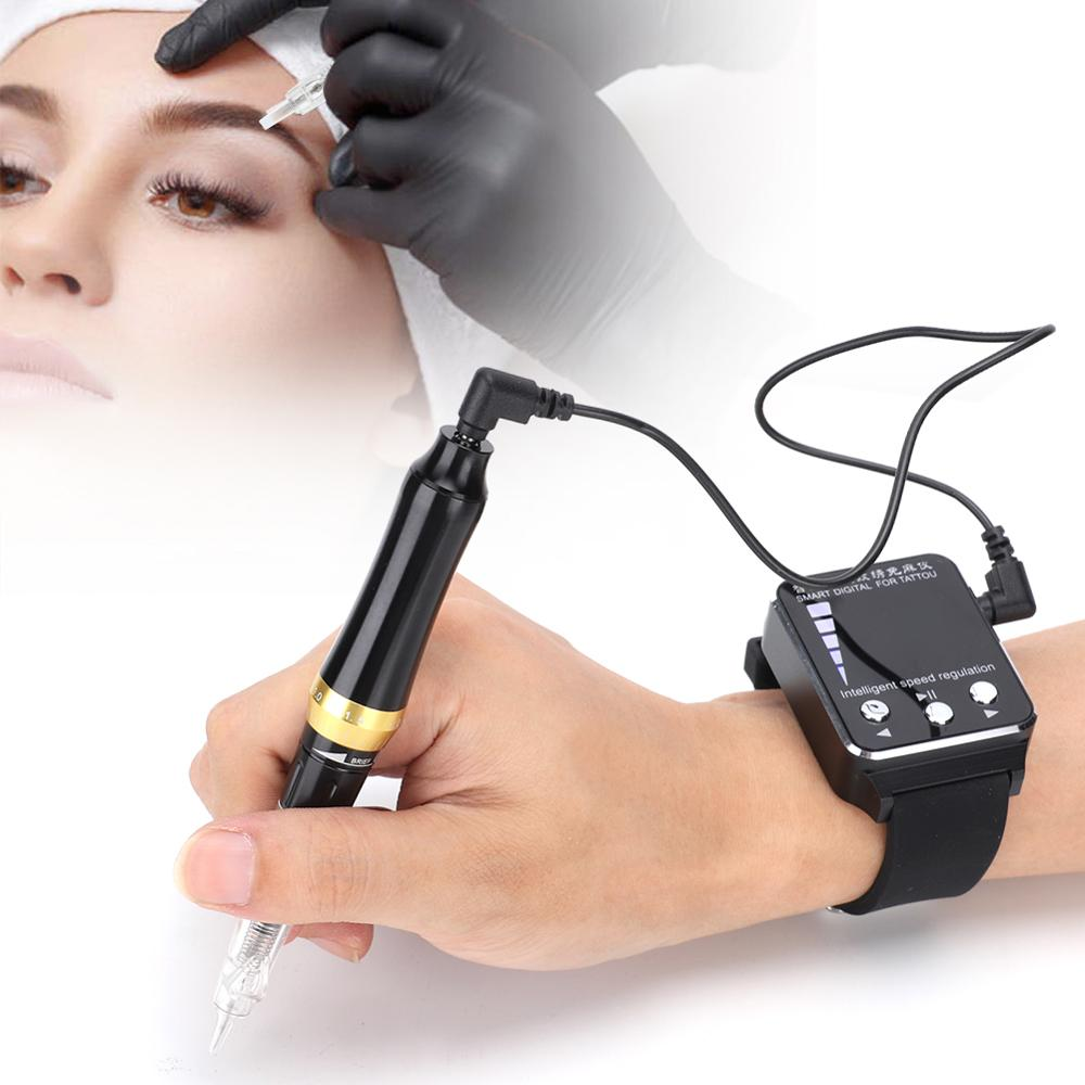 2Type Electric Tattoo Machine Microblading Semi-Permanent Makeup Eyebrow Eyeliner Lip tattoo Pen Machine US Plug 100-240V Newest