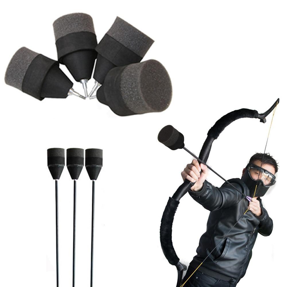 1/6/12pcs Black Soft Sponge Arrow Head Foam Shooting Arrowhead Game Practice Tips For Archery Bow CS Shooting