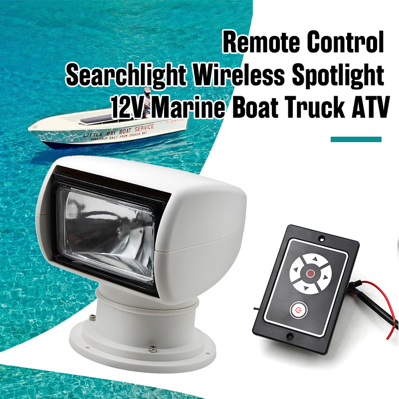 Boat Remote Spotlight Searchlight 12V 100W Bulb For Marine Yacht Speedboat Etc 360 Degree Xenon Lighting Boat Accessories Marine
