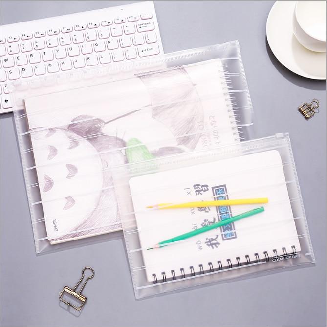File Pocket Document-Organizer Office-Stationery School PVC Archivador Bag Carpetas