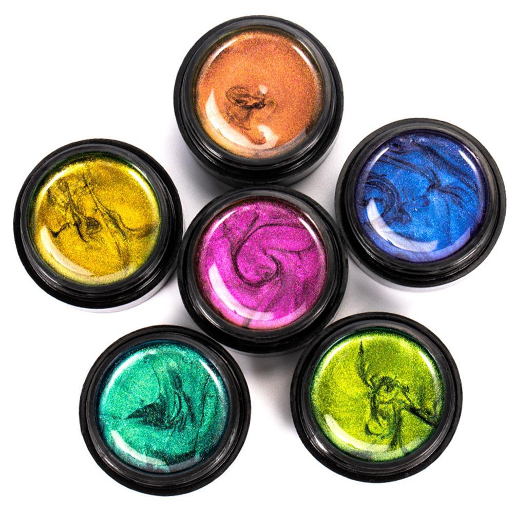 conjunto 6 cores magia cracking unha polonês
