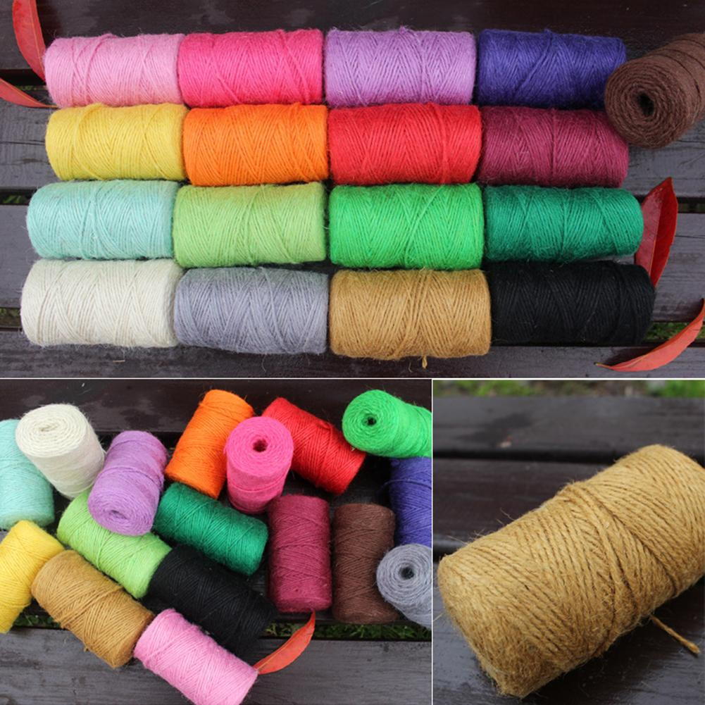 50/100m Jute Twine Natural Burlap Cord Hemp Rope DIY Craft Twisted Cords Gift Packaging Ropes Party Wedding Decoration