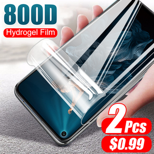 2Pcs 800D Hydrogel Soft Film Not Glass For Huawei Honor 20 Pro 9X 8X 10 9 8 Lite 20S Screen Cover Protector Full Protective Film(China)