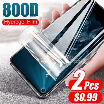 2Pcs 800D Idrogel Film Morbido Non di Vetro Per Huawei Honor 20 Pro 9X 8X 10 9 8 Lite 20S Della Copertura Dello Schermo di Protezione Pellicola Protettiva