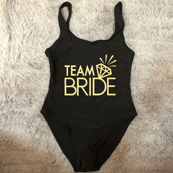 Bridal Party Swimsuit Women TEAM BRIDE One Piece Bathing Suit 2020 Sexy Bikini Beachwear Plus Size Swimwear monokini Bodysuit 2