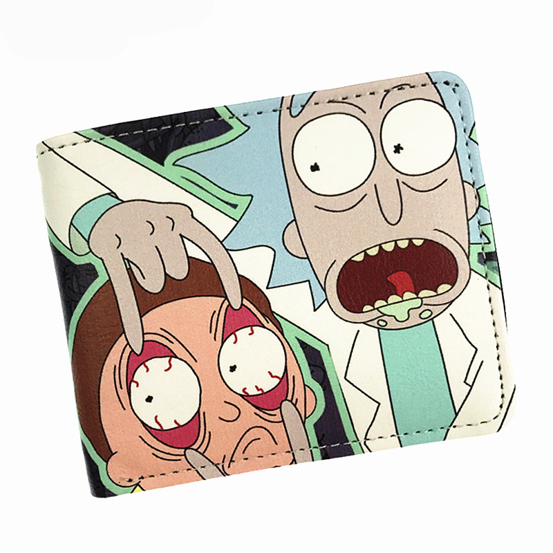 Hot Comics Rick And Morty Wallet With Coin Pocket Card Holder Short Coin Purse