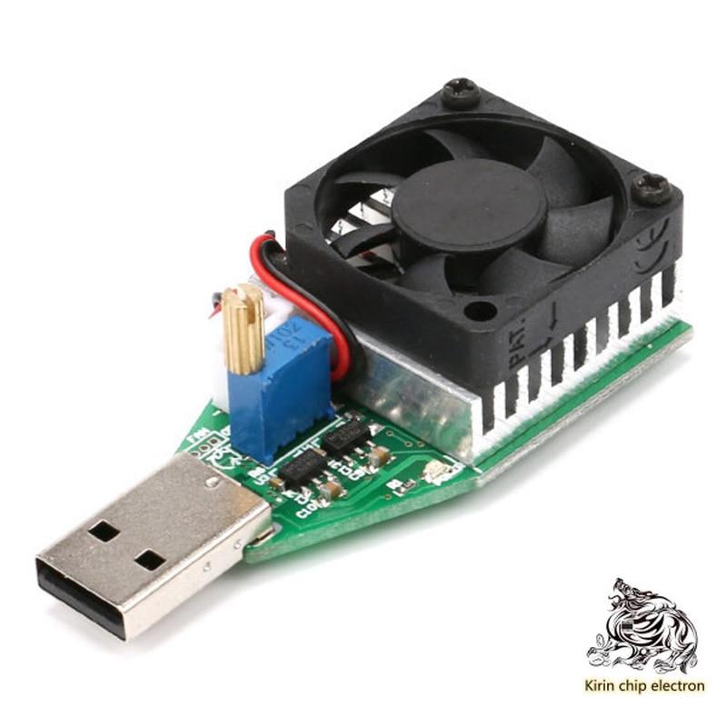 1pcs USB Adjustable Constant Current Electronic Load Charger Test Instrument/aging Discharger Intelligent Discharge Resistance