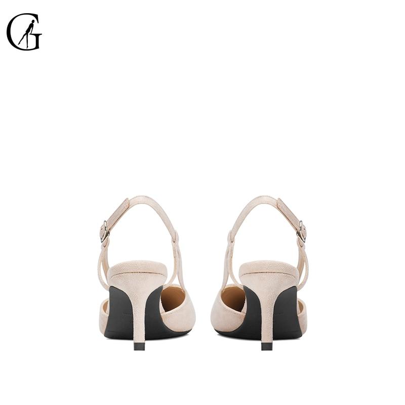 GOXEOU/2019 ผู้หญิงปั๊มเย็บรองเท้าส้นสูงรองเท้าส้นสูงรองเท้าแตะขนาด 32 46,จัดส่งฟรี-ใน รองเท้าส้นสูง จาก รองเท้า บน   2