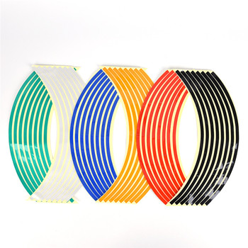 Hot sale 16 Pcs Bike Car Motorcycle Wheel Tire Reflective Rim Stickers And Decals Decoration Stickers image