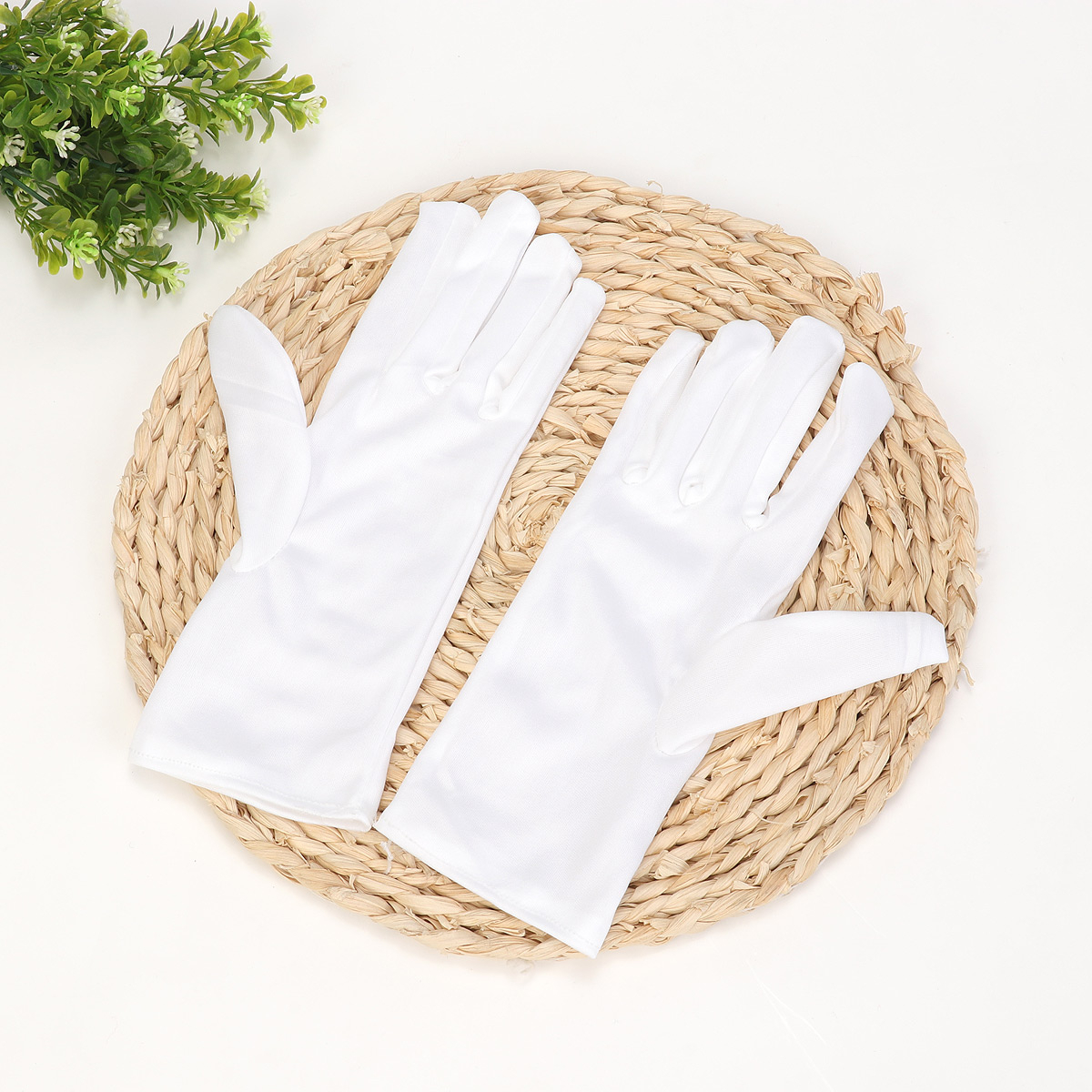 1 пара тонкие хлопковые рабочие белые ручные бытовые перчатки
