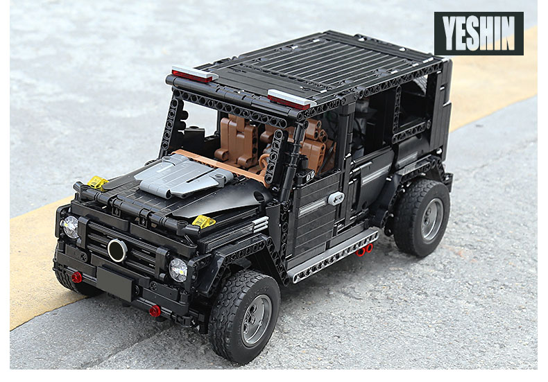 New APP RC G-Glass G500 AWD Wagon SUV Vehicle Fit Technic MOC 2425 Motor Power Function Building Blocks Bricks Toy Kid Birthday 34