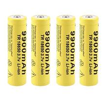 2-8 sztuk/partia 18650 baterii 3.7v 9900mah akumulator Liion dla Led latarka latarka bateria litowa bateria #3