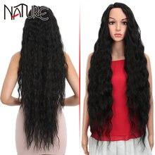Натуральный парик свободные волнистые волосы синтетический высокотемпературное