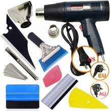 EHDIS Vinyl Film Car Wrap Tools kit US/EU/AU Electric Hot Air Gun Heat Gun Squeegee Scraper Cutter Knife Car Sticker Accessories(China)