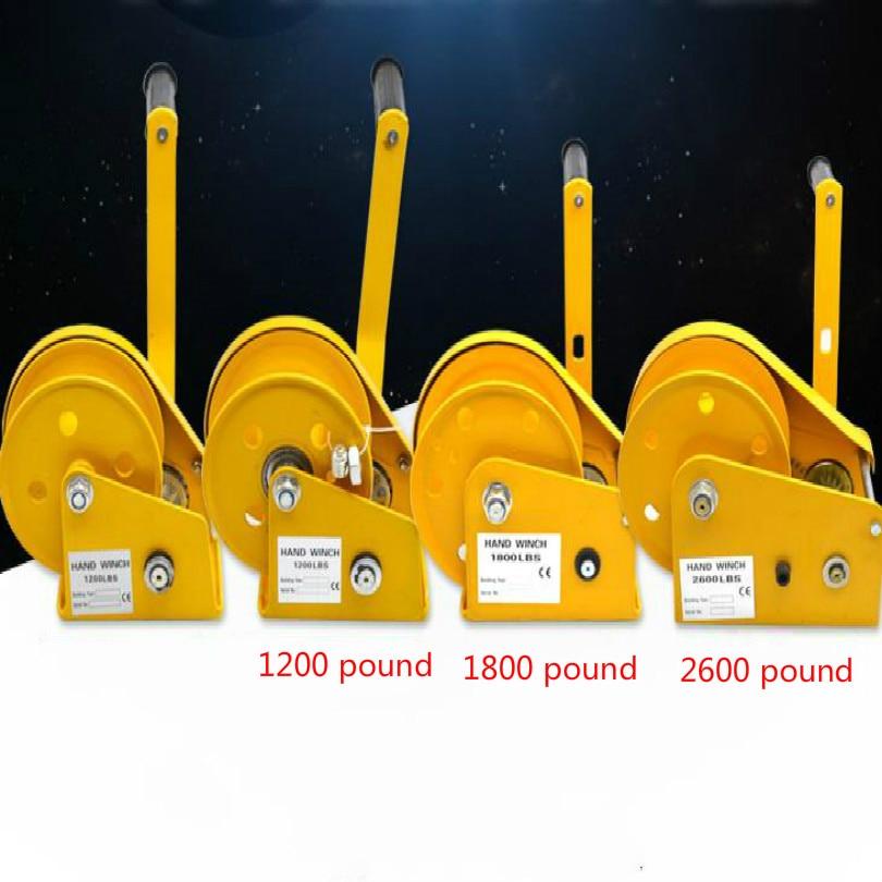 Бесплатная доставка Портативная лебедка winche 1200 фунтов 1800 фунтов 2600 фунтов ручная лебедка ручной подъемный инструмент лебедка ручная