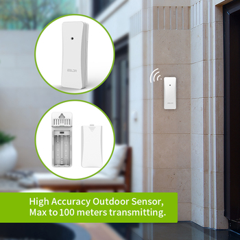 Baldr  Weather Station LCD Thermometer Hygrometer Meter Forecast Sensor Indoor Outdoor Sensor 4