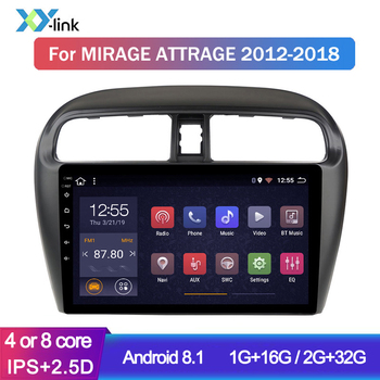 Car Multimedia player 9 Inch Android Radio For Mitsubishi Mirage Attrage GT G4 2012-2018 GPS Navigation system Stereo no 2 din image